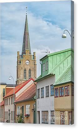 Canvas Print featuring the photograph Halmstad Street Scene by Antony McAulay