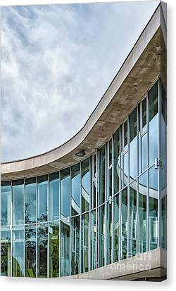 Canvas Print featuring the photograph Halmstad University Labrary Detail by Antony McAulay