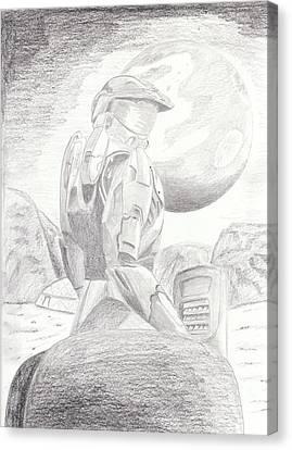 Halo Soldier Canvas Print