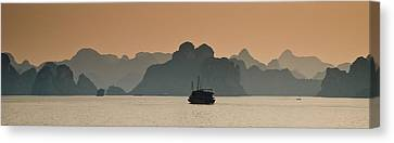 Halong Bay Canvas Print by Peter Verdnik