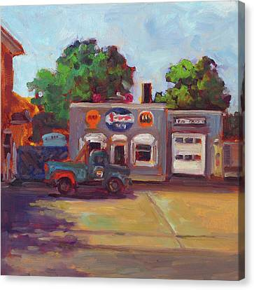 Hal's Garge Canvas Print by Nora Sallows