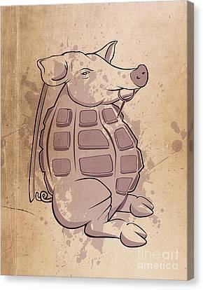 Ham-grenade Canvas Print by Joe Dragt