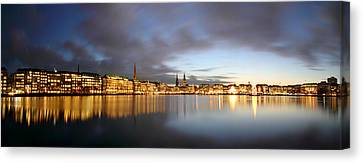 Hamburg Alster Christmas Time Canvas Print