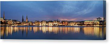 Canvas Print - Hamburg Alster Panorama by Marc Huebner