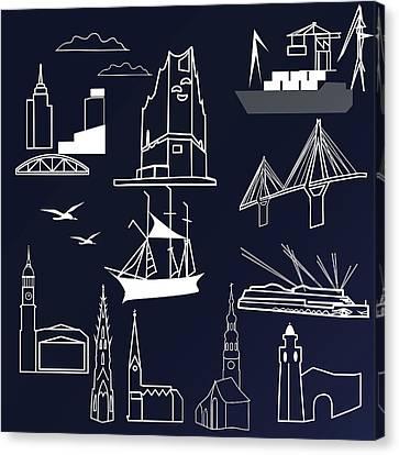 Hamburg In Miniature Canvas Print by Marina Usmanskaya