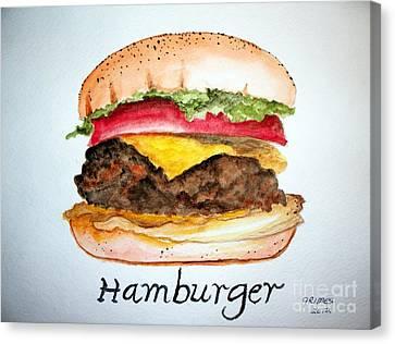 Hamburger 1 Canvas Print by Carol Grimes