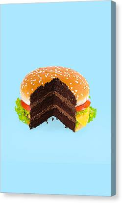 Hamburger Canvas Print - Hamburger Cake by Paul Fuentes