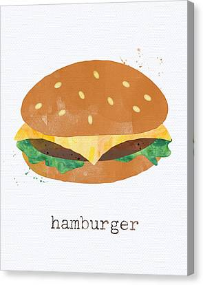 Lettuce Canvas Print - Hamburger by Linda Woods