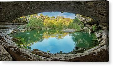 Hamilton Pool In The Texas Hill Country 1 Canvas Print by Rob Greebon