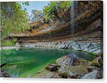 Hamilton Pool In The Texas Hill Country In October 1 Canvas Print by Rob Greebon