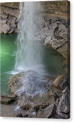 Pool In Cave Canvas Print - Hamilton Pool Waterfall by Teresa Wilson