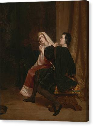 Hamlet And His Mother, The Closet Scene Canvas Print