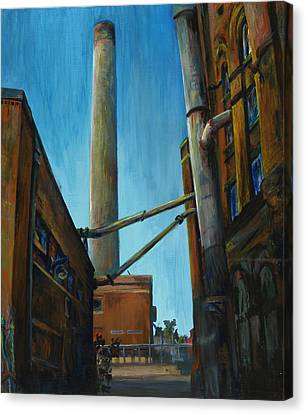 Hamm Brewery Canvas Print by Grace Hasbargen