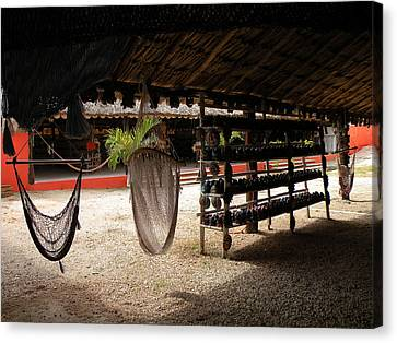 Hammocks At A Reststop Canvas Print