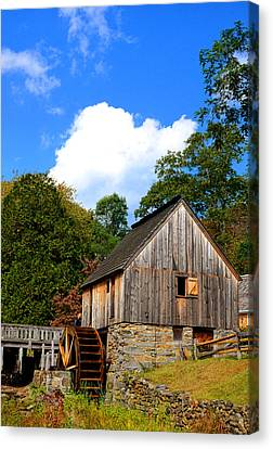 Old Mill Scenes Canvas Print - Hammond Gristmill Rhode Island by Lourry Legarde