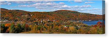Keuka Lake Canvas Print - Hammondsport Panorama by Joshua House