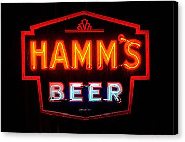 Hamm's Beer Canvas Print by Susan  McMenamin