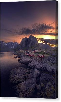 Hamnoey Sunset Canvas Print by Tor-Ivar Naess