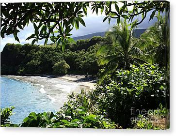 Hamoa Beach Maui Hawaii Canvas Print by Sharon Mau