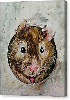 Hamster Love Canvas Print by Michael Creese