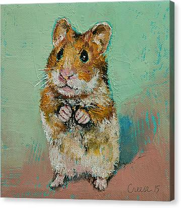 Hamster Canvas Print by Michael Creese
