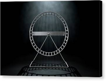 Spin Canvas Print - Hamster Wheel Empty by Allan Swart
