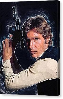 Han Solo Canvas Print by Taylan Apukovska
