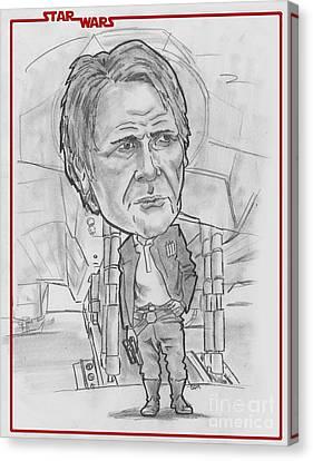 Han Solothe Force Awakens Canvas Print by Chris DelVecchio