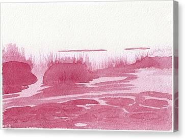 Hanalei Sunrise Waves Canvas Print by Meagan Healy