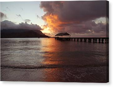 Hanalei Sunset Canvas Print by Kelly Wade