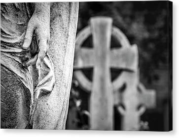 Hand And Cross Canvas Print