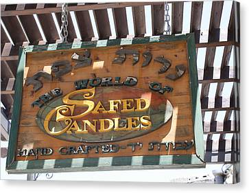 Hand Crafted Candle Shop Canvas Print by Julie Alison