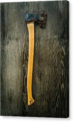 Tools On Wood 11 Canvas Print by Yo Pedro