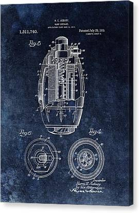 Hand Grenade Patent Drawing Canvas Print by Dan Sproul