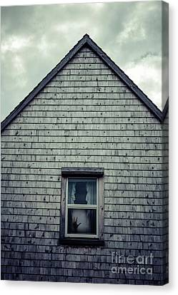 Hand In The Window Canvas Print