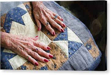Homemade Quilts Canvas Print - Hand Made Quilt by Debra Baldwin