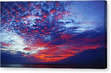 Hand Of God At Sunrise Canvas Print