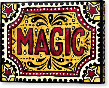 Canvas Print featuring the painting Hand Painted Magic  by Nada Meeks