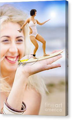Hand Surfer Canvas Print