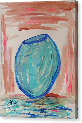 Hand Thrown Canvas Print by Mary Carol Williams