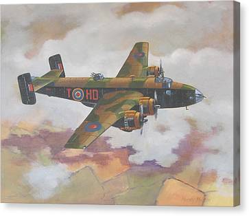 Handley Page Halifax Canvas Print by Murray McLeod