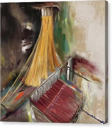 Handloom 192 1 Canvas Print by Mawra Tahreem