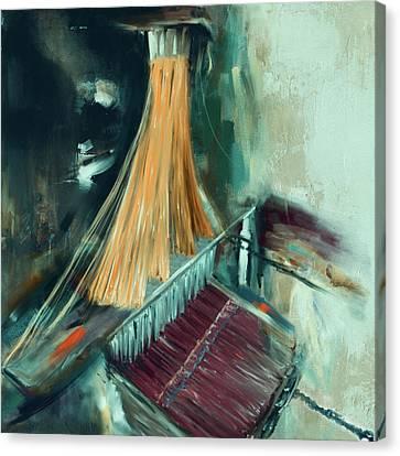 Handloom 192 2 Canvas Print by Mawra Tahreem