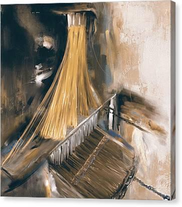 Handloom 192 3 Canvas Print by Mawra Tahreem