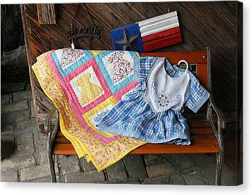 Homemade Quilts Canvas Print - Handmade Crafts by Linda Phelps