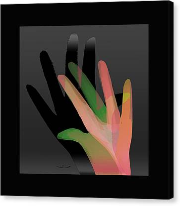 Hands In Pair Canvas Print by Asok Mukhopadhyay