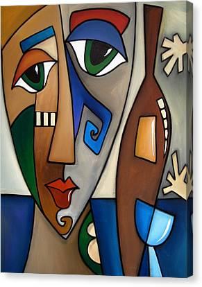 Hands Off My Wine By Fidostudio Canvas Print by Tom Fedro - Fidostudio