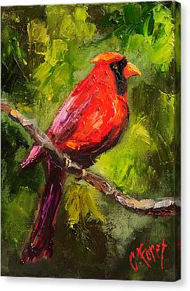 Handsome Red Canvas Print by Carole Foret