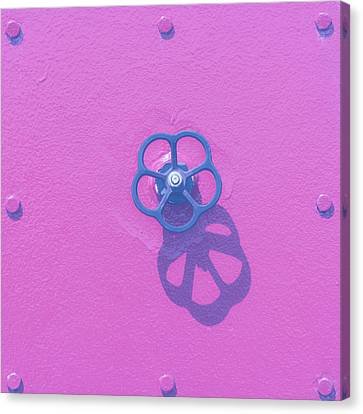 Handwheel - Pink Canvas Print
