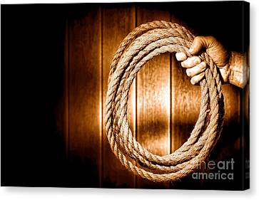 Hang 'em High - Sepia Canvas Print by Olivier Le Queinec